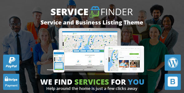 Service Finder - Service and Business Listing WordPress Theme - Directory & Listings Corporate