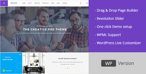 Sylor - Minimal Creative Agency WordPress Portfolio - Portfolio Creative