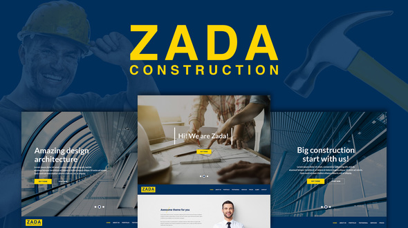 Zada - Construction WordPress Theme - Business Corporate