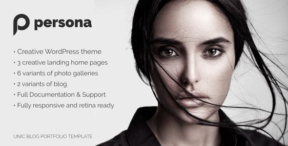 Persona | WordPress Photography, Portfolio and Blog Theme - Photography Creative