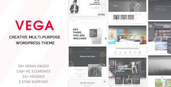 Vega - Creative Multi-Purpose WordPress Theme - Creative WordPress