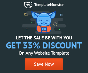 33% discount on templates